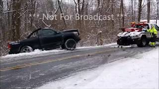 Zionsville PA Accident on Icey Roads Jan 17th 2018