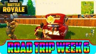 FREE Battle Star Location - Fortnite Week 6 Season 5 Road Trip!