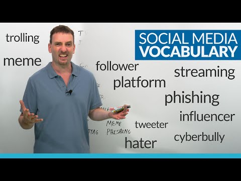 SOCIAL MEDIA Vocabulary in English: 30 words to learn