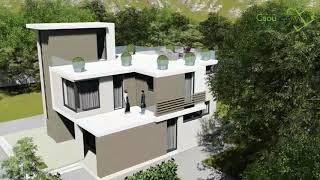 Проект современного двухэтажного дома Монтана C-176 с двумя спальнями