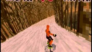Steep Slope Sliders gameplay demo, Sega ST-V arcade PCB (1998)