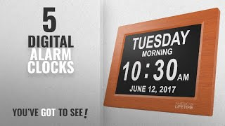 Top 10 Digital Alarm Clocks [2018 ]: [Newest Version] Day Clock - Extra Large Impaired Vision
