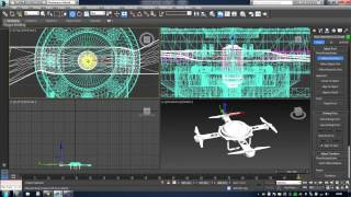 Drone Animation Element 3D v2 and 3D Max 2010-2016 obj sequence