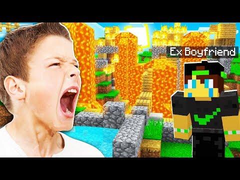 PRANKING My Little Sister's EX BOYFRIEND In Minecraft!