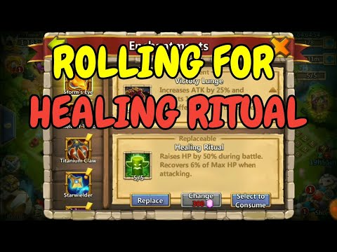 Rolling For Healing Ritual L Castle Clash