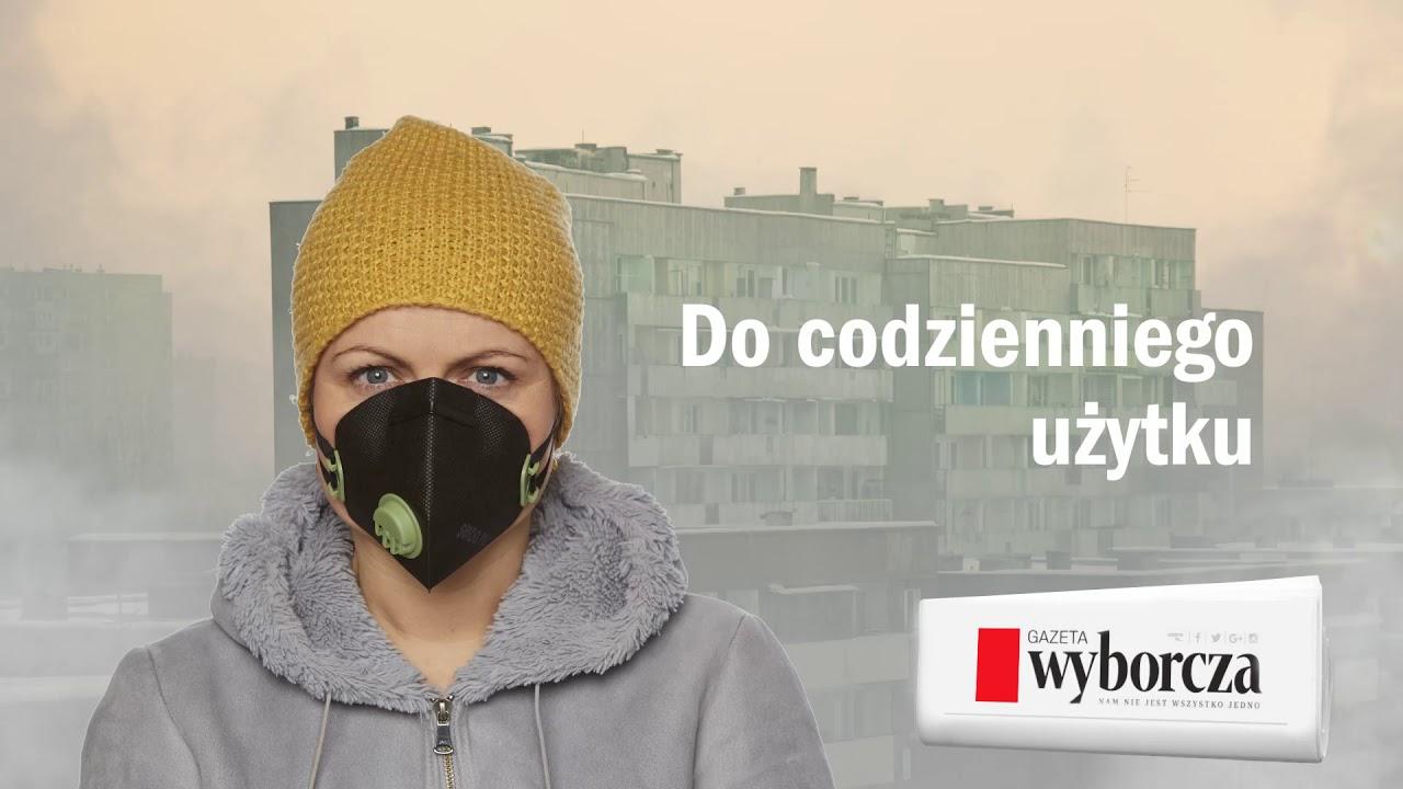 """Maseczka antysmogowa w piątek 16 lutego z łódzką """"Wyborczą"""""""