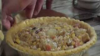 Turkey Pot Pie, Filling Cooked In A Crock Pot On Jimbo Jitsu's Farm House Show