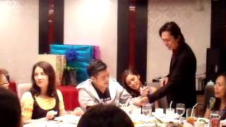 KIM CHIU AND XIAN LIM at post Katg Christmas party (MAGIC SHOW video 1)