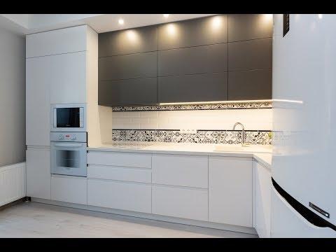 Современная , Угловая кухни под потолок на заказ видео-обзор в Минск, Братская 8 | Everest.by