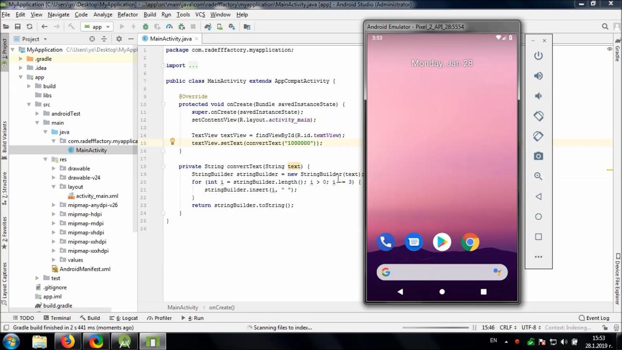 Add Large Number Separator in Android Studio - Tihomir RAdeff
