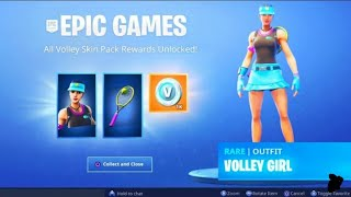 Le New VOLLEY GIRL PACK à Fortnite.