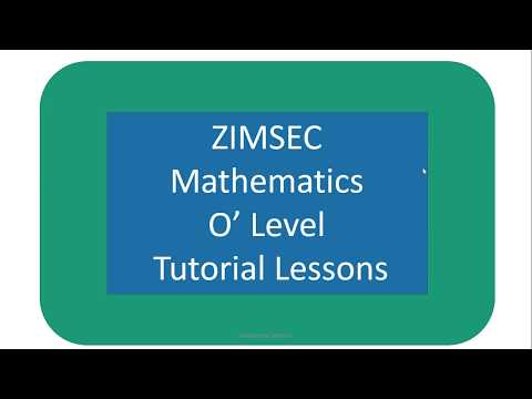 Zimsec O Level Mathematics By Annswered Systems YouTube