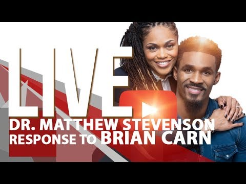 Dr. Matthew Stevenson UNbothered about Brian Carn's Facebook LIVE
