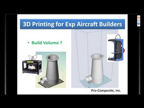 EAA Webinar- 3D Printing for Experimental Aircraft Builders