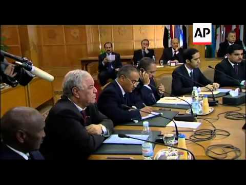 Arab League hold an emergency meeting to discuss situation in Libya