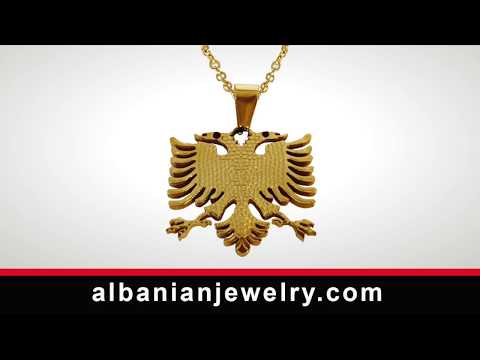 Albanian flag necklace