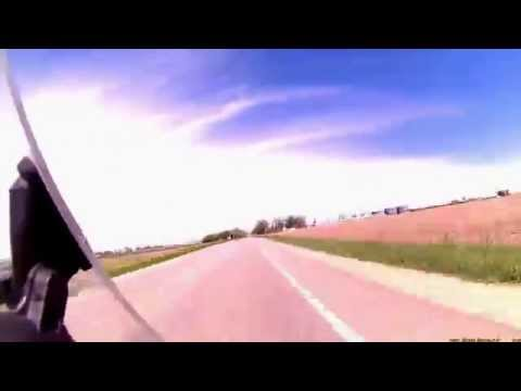Time lapse motorcycle ride up the western side of Michigan to Point Betsie