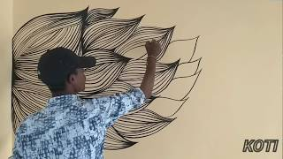KGF  film title wall painting - dedicate to entire KGF film team
