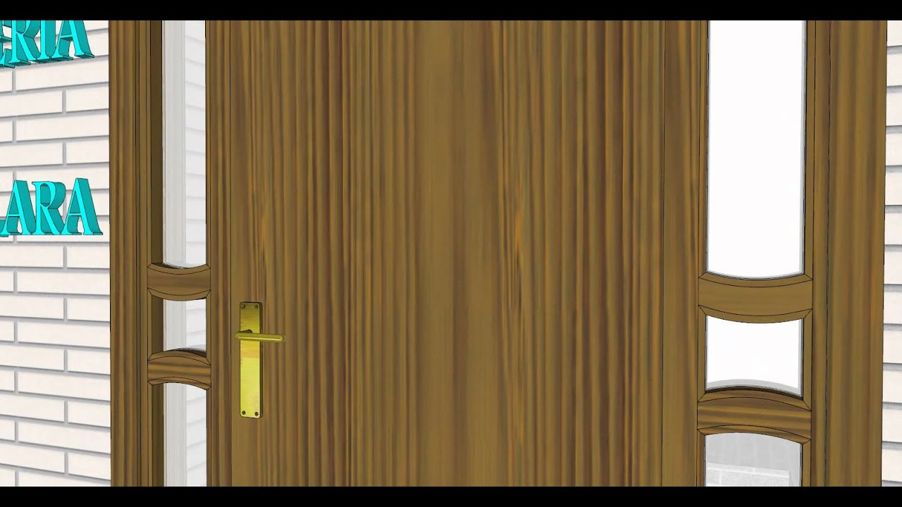 Carpinteria de madera santa clara puerta entrada con marco cristalera youtube - Carpinteria santa clara ...