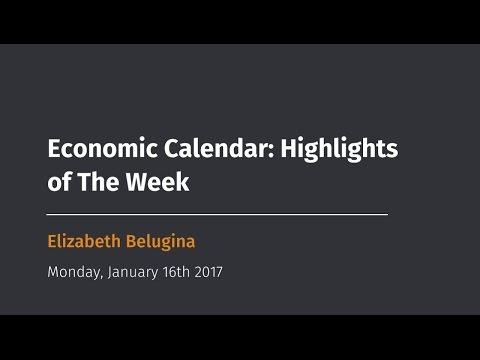 Economic Calendar: Highlights of The Week Jan 16 - 20