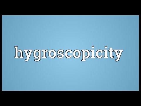 Header of hygroscopicity