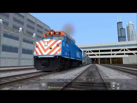 Train Simulator 2016 Test Video - Metra Express Run - Chicago To Aurora
