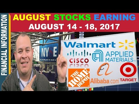 August Stocks Earnings📊| Home Depot Cisco Applied Materials Alibaba Target Walmart | August14-18📆