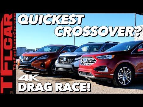 Honda Passport, Ford Edge, Nissan Murano Fight In Drag Races