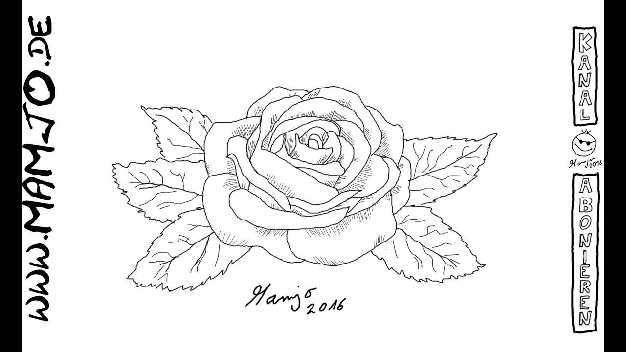 zeichne eine rose mit ein paar strichen und beeindrucke deine liebste teil 17 tutorial youtube. Black Bedroom Furniture Sets. Home Design Ideas