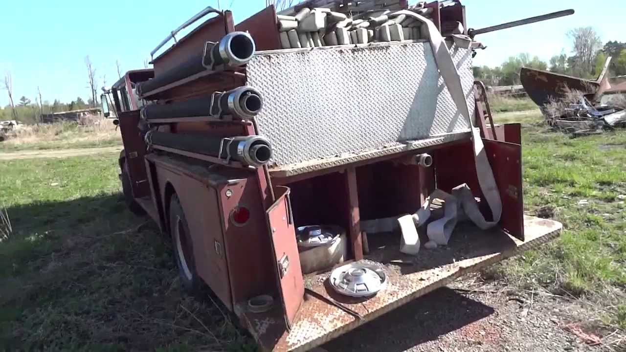 American La France Fire Truck - Junk Yard Finds - YouTube