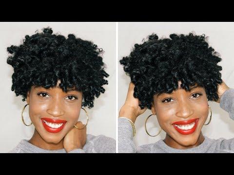 Easy Flexi Rod Tutorial For Short Natural Hair Youtube