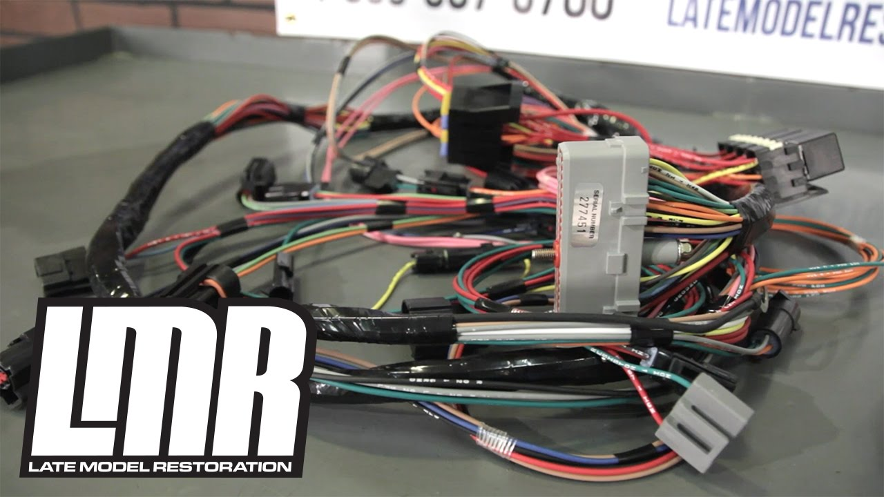 medium resolution of mustang wiring harnesses engine conversion restoration harnesses youtube