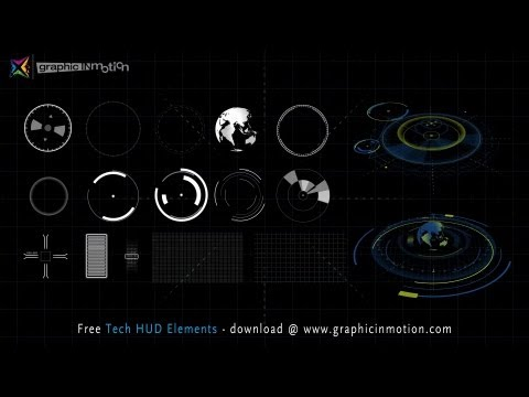 FREE High Tech HUD Elements Model Kit - After Effects Project