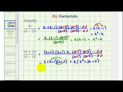 Ex 2: Simplify Expressions with Factorials Containing Variables