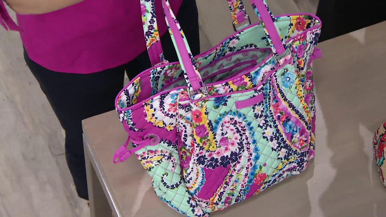 ff8eec432 Vera Bradley Iconic Glenna Satchel Handbag on QVC - YouTube