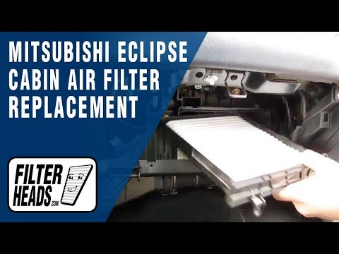 How To Replace Cabin Air Filter Mitsubishi Eclipse Youtube