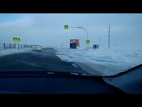 Трассу Челябинск — Магнитогорск замело снегом