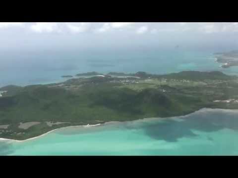 Flight into St Johns Antigua. You can see Sandals Antigua by Lynn at Alpha Travel 919.467.5020