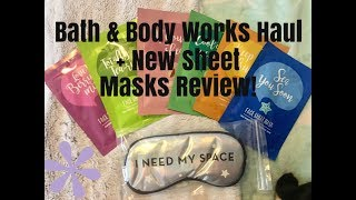 Bath & Body Works Haul & New Sheet Mask Review! | Nikki Stixx
