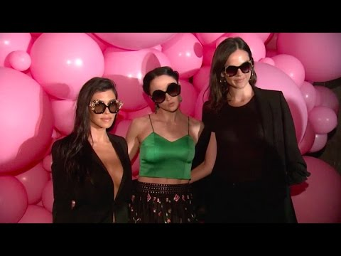 Kourtney Kardashian supports Alice + Olivia Sunglasses Launch