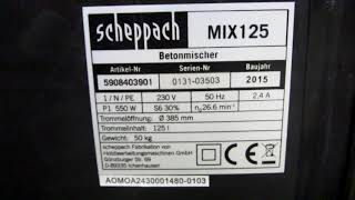 Обзор бетономешалки (Electric Cement Mixer) Scheppach MIX-125