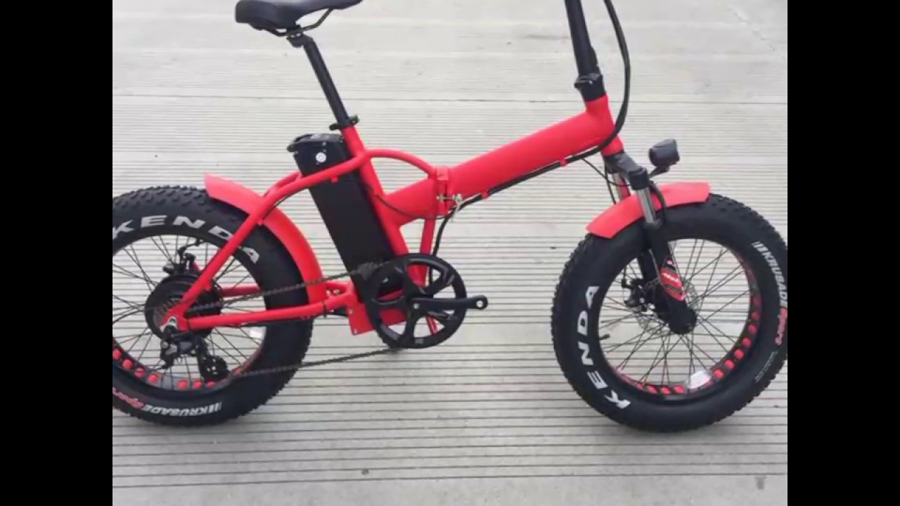 New Fast 500w 48v Electric Folding Fatbike Fat Ebay Bicycle E Bike 20 Quot Youtube