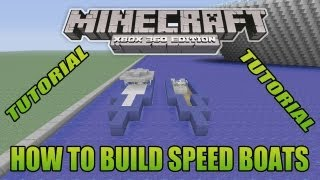 Minecraft Xbox Edition Tutorial How To Build Speed Boats