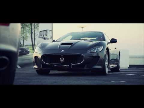 "Maserati on Aircraft Carrier ""Nave Cavour""  ""HD"""