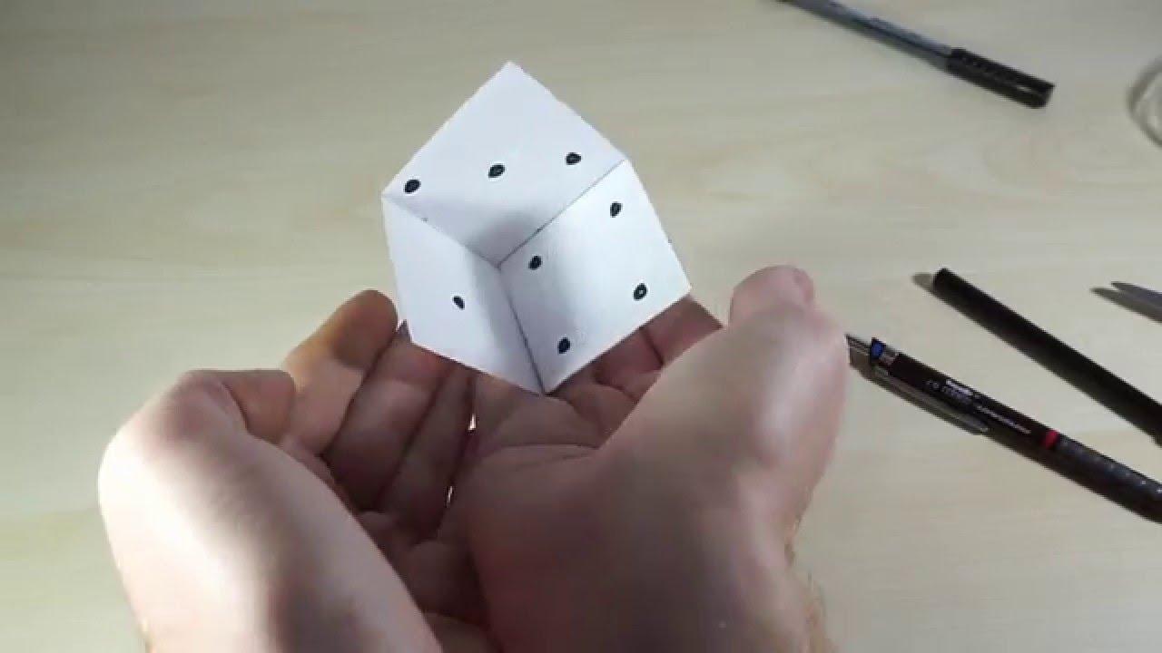 Kağıttan Nasıl Küp Yapılır
