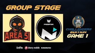 Just ML Cup Challenger's Edition NXP Area51 vs NXP Solid Game 1 (BO3) | Just ML Mobile Legends
