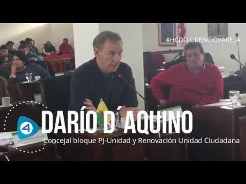 Concejo Deliberante de Florencio Varela: contundente respuesta del concejal Darío D´Aquino al edil Pablo Alaniz