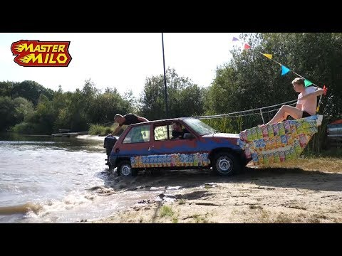 Car in the water! Amphibian car!