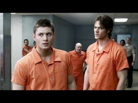 Сэм и Дин в тюрьме / Тюремная драка | Сверхъестественное