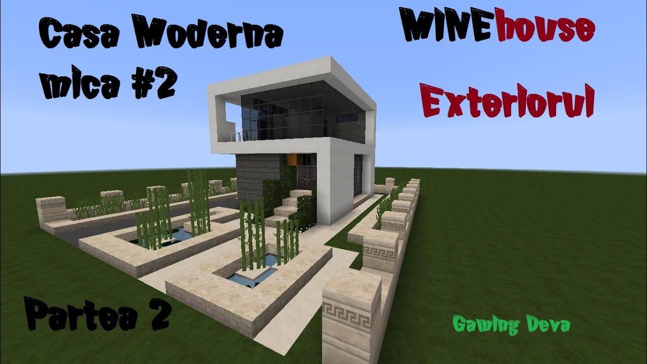 Minehouse casa moderna mica 2 episodul 2 exteriorul for Casa moderna minecraft ita download